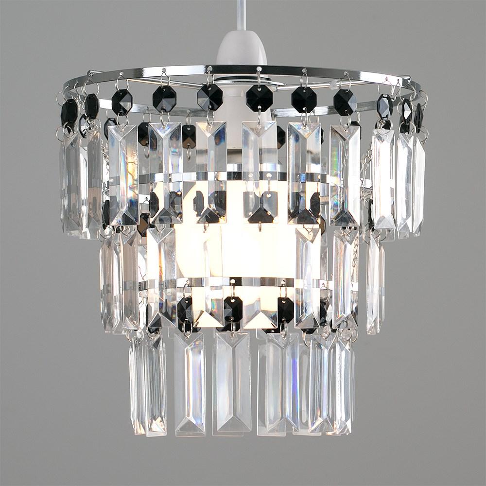 Modern-3-Tier-Ceiling-Pendant-Acrylic-Crystal-Light-Lamp-Shade-Chandelier-Shade thumbnail 4