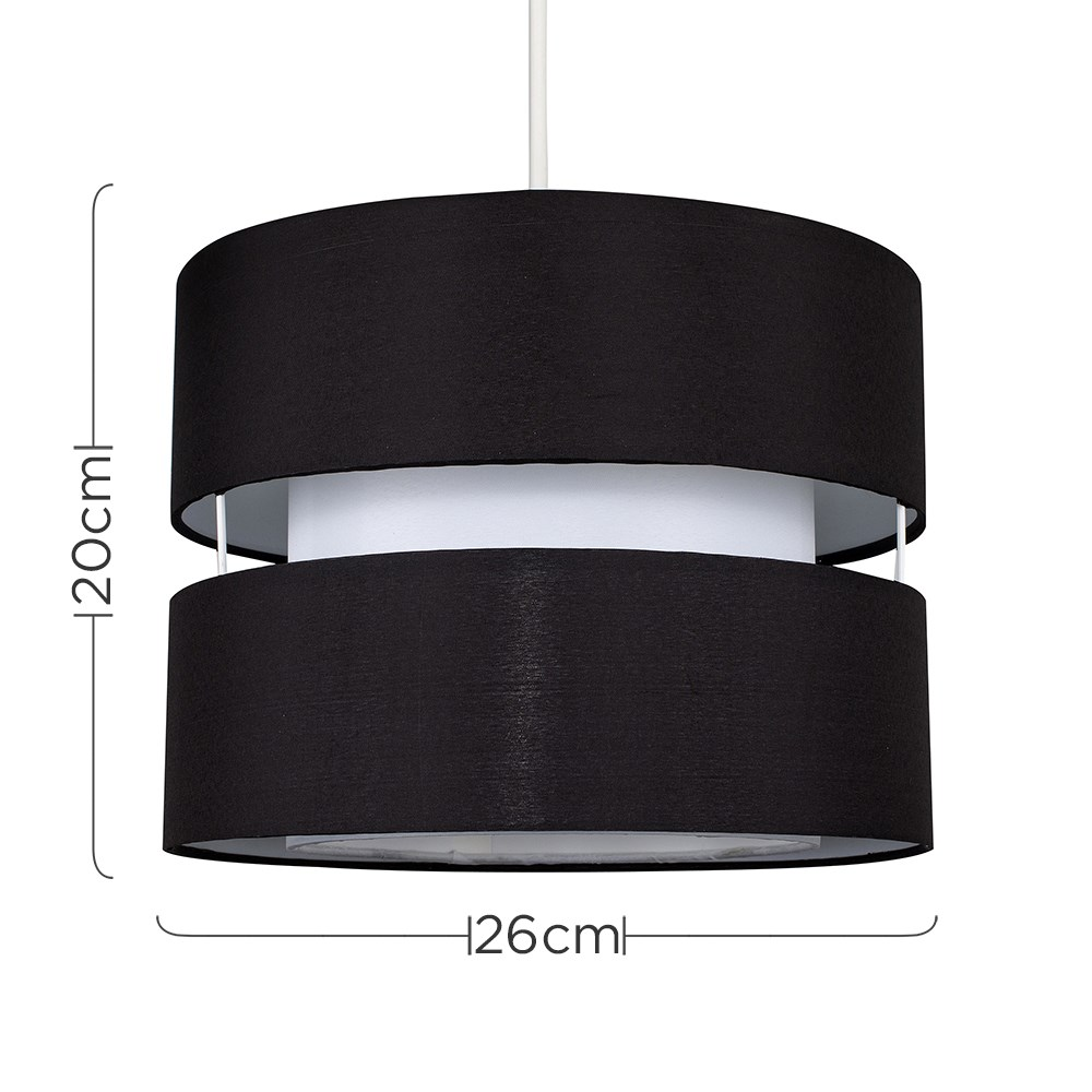 Modern-Easy-Fit-Cotton-Drum-Ceiling-Pendant-Lampshades-Modern-Light-Lighting thumbnail 7