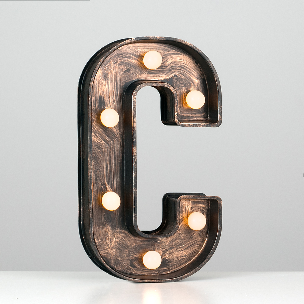 Vintage-Style-Bronze-A-Z-Light-Up-Marquee-Letters-Carnival-Personalised thumbnail 21