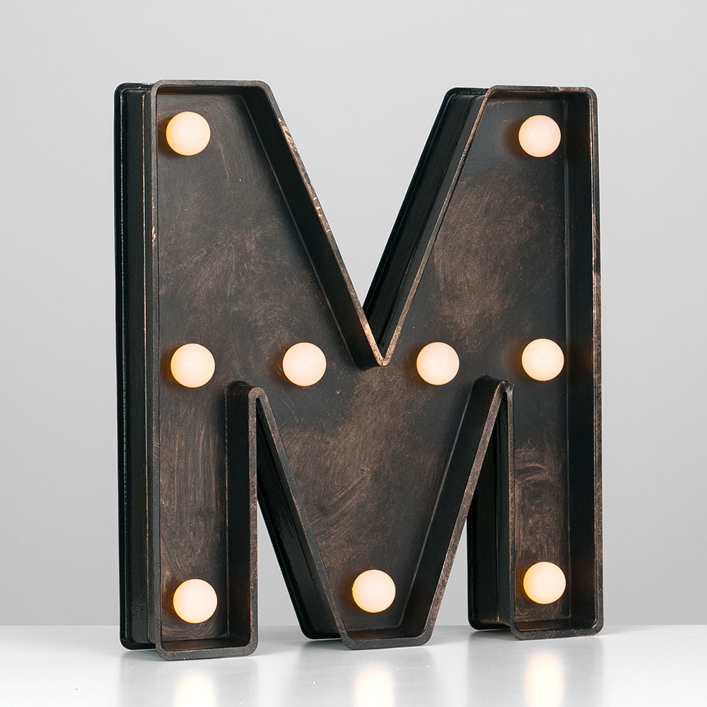 Vintage-Style-Bronze-A-Z-Light-Up-Marquee-Letters-Carnival-Personalised thumbnail 51
