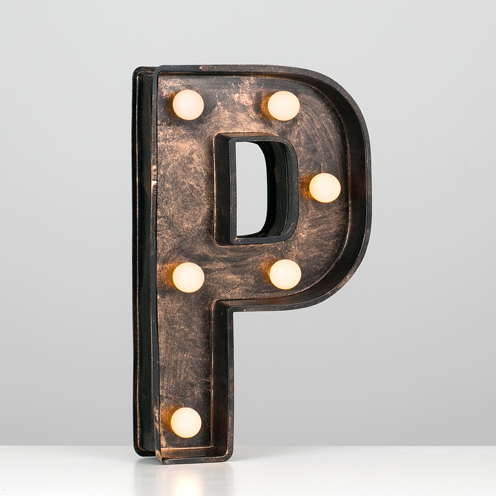 Vintage-Style-Bronze-A-Z-Light-Up-Marquee-Letters-Carnival-Personalised thumbnail 60
