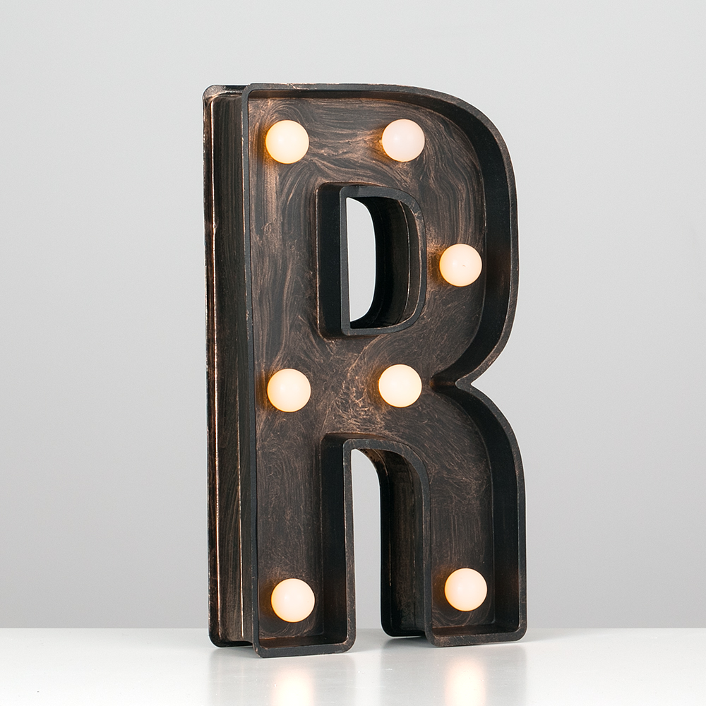 Vintage-Style-Bronze-A-Z-Light-Up-Marquee-Letters-Carnival-Personalised thumbnail 66