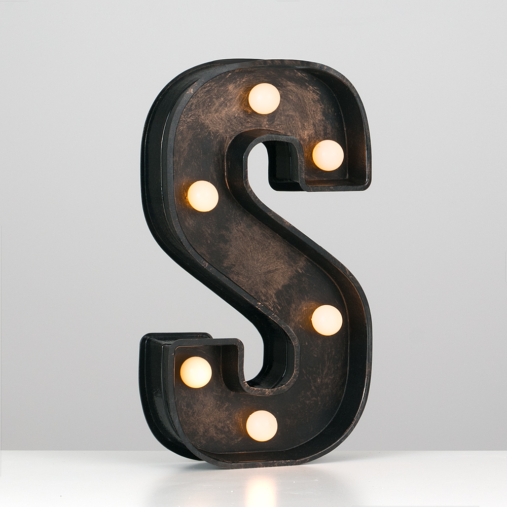 Vintage-Style-Bronze-A-Z-Light-Up-Marquee-Letters-Carnival-Personalised thumbnail 69
