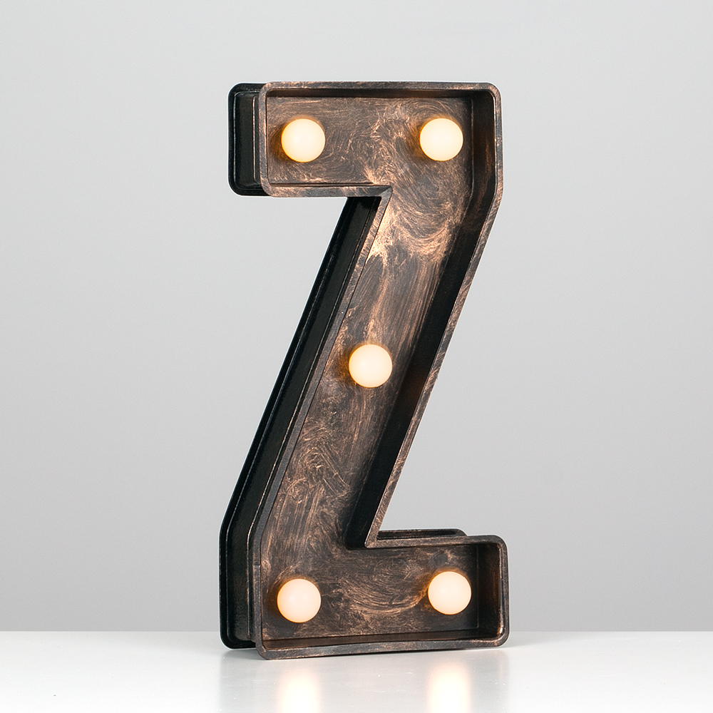 Vintage-Style-Bronze-A-Z-Light-Up-Marquee-Letters-Carnival-Personalised thumbnail 90