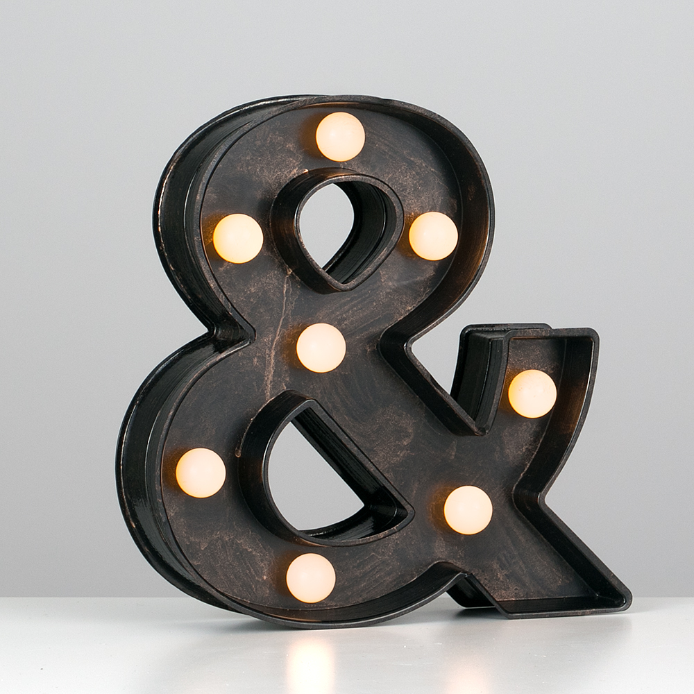 Vintage-Style-Bronze-A-Z-Light-Up-Marquee-Letters-Carnival-Personalised thumbnail 7