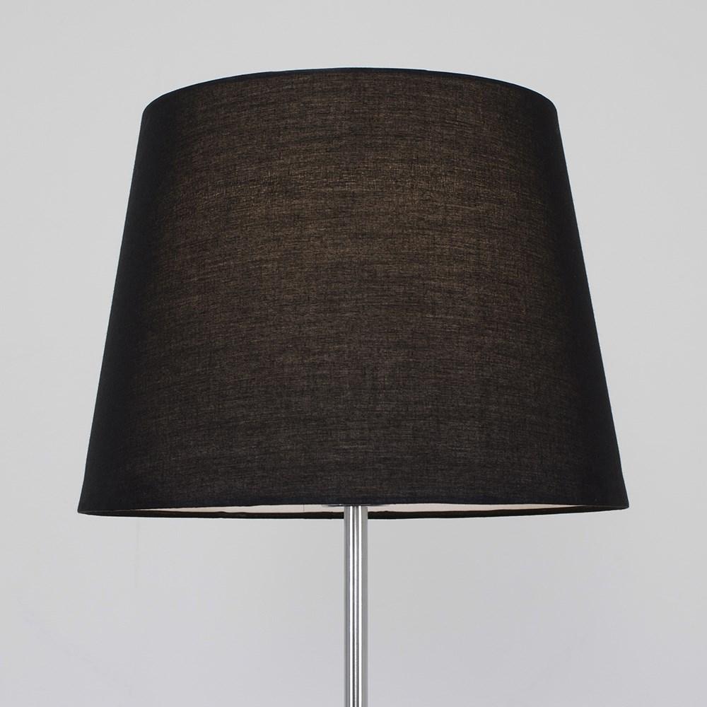 Living Room Lamp Shades: Tall Stem Chrome Floor Lamp Living Room Lighting Cotton