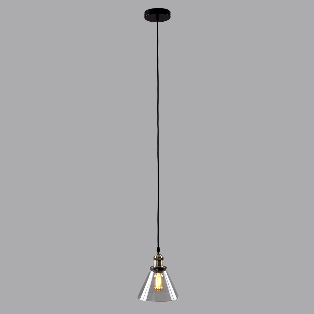 Vintage-Industrial-Steam-Punk-Style-Ceiling-Light-Fittings-Glass-Pendant-Shade thumbnail 14