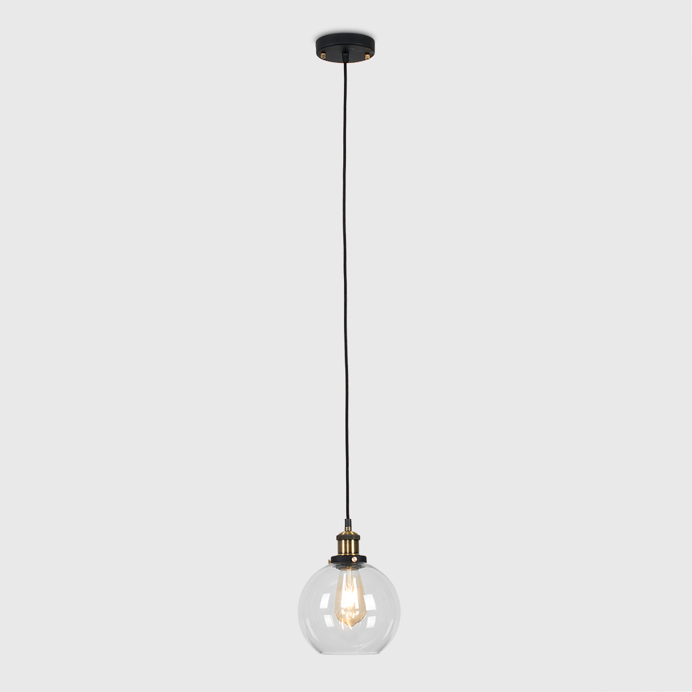 Vintage-Industrial-Steam-Punk-Style-Ceiling-Light-Fittings-Glass-Pendant-Shade thumbnail 26