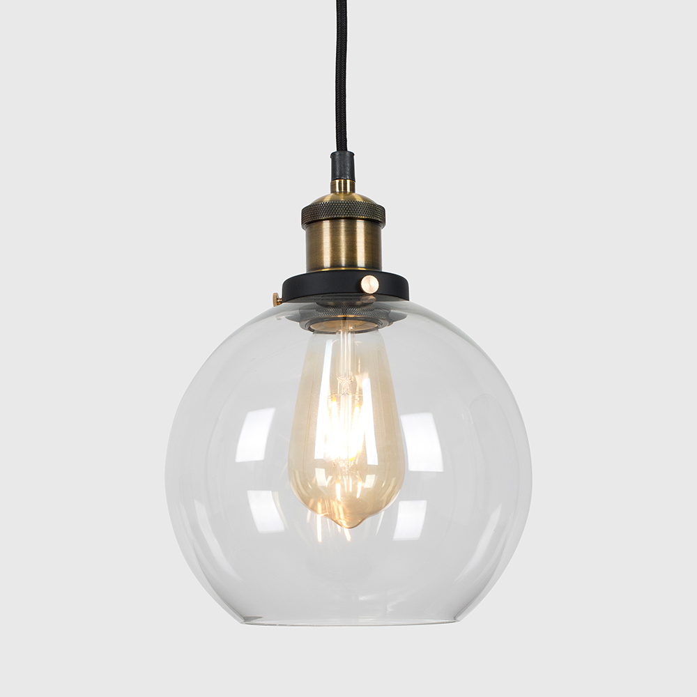 Vintage-Industrial-Steam-Punk-Style-Ceiling-Light-Fittings-Glass-Pendant-Shade thumbnail 27