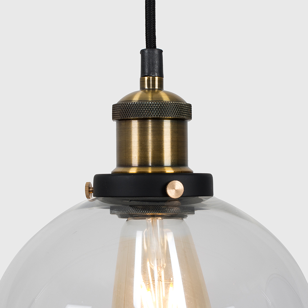 Vintage-Industrial-Steam-Punk-Style-Ceiling-Light-Fittings-Glass-Pendant-Shade thumbnail 28