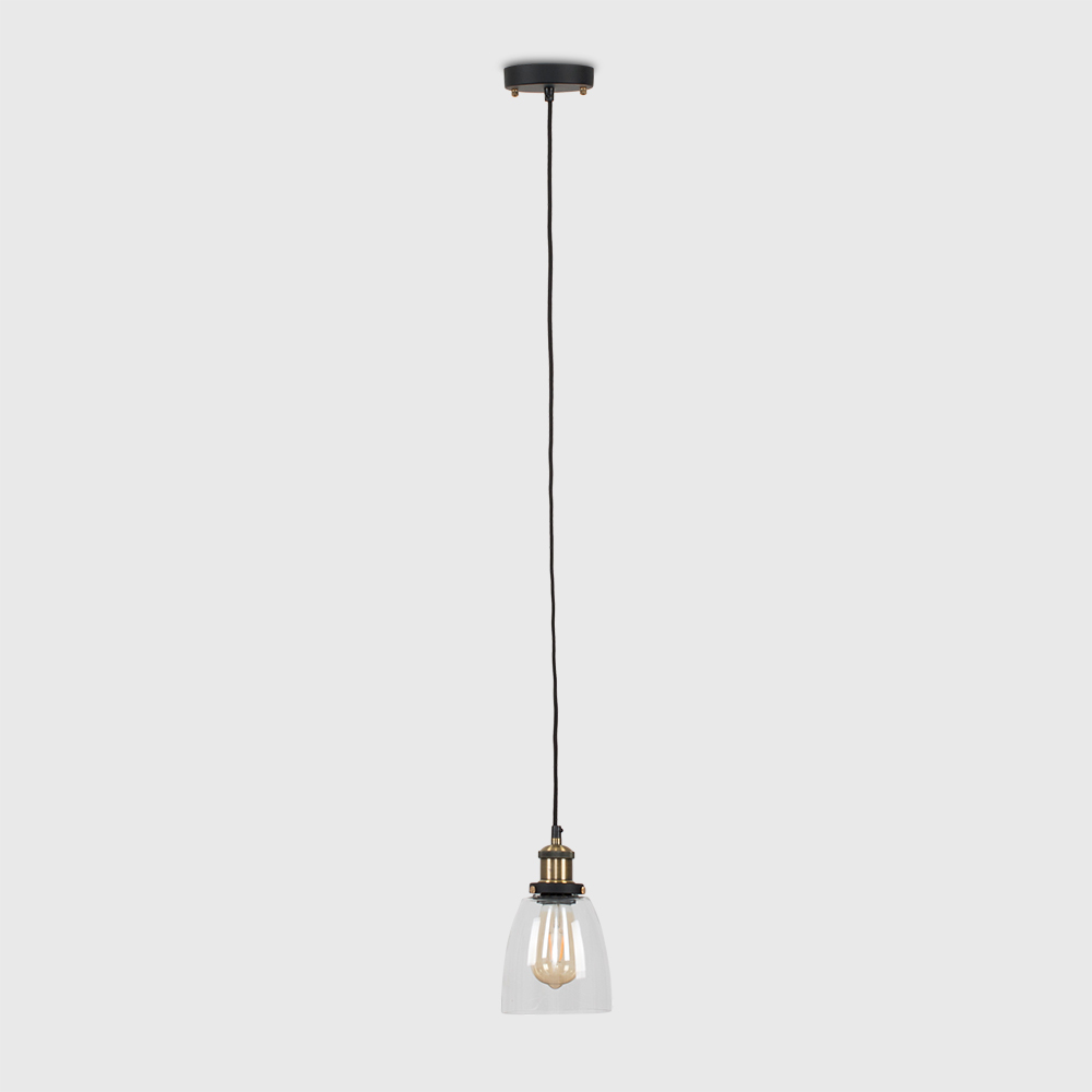 Vintage-Industrial-Steam-Punk-Style-Ceiling-Light-Fittings-Glass-Pendant-Shade thumbnail 17