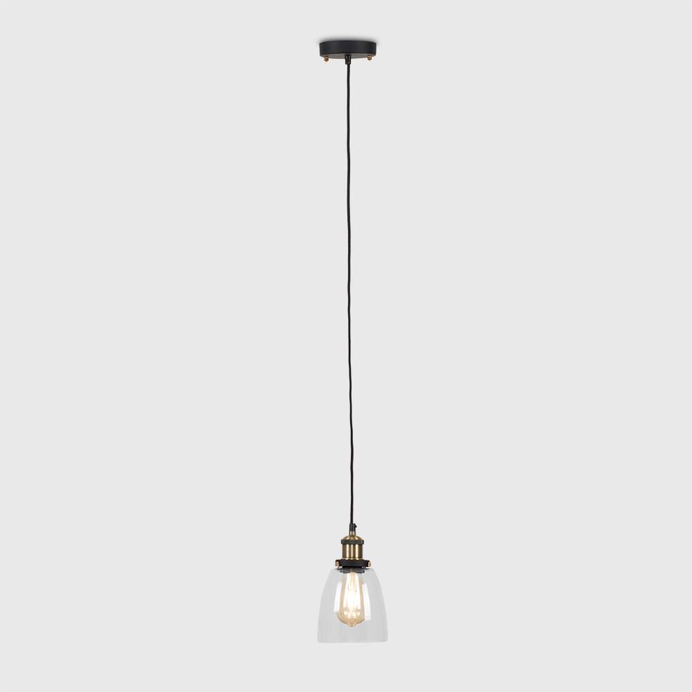 Vintage-Industrial-Steam-Punk-Style-Ceiling-Light-Fittings-Glass-Pendant-Shade thumbnail 18