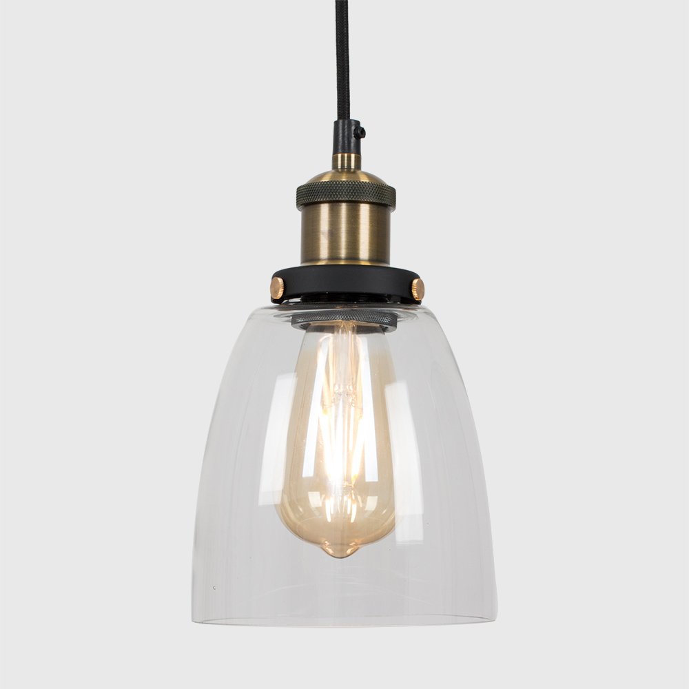 Vintage-Industrial-Steam-Punk-Style-Ceiling-Light-Fittings-Glass-Pendant-Shade thumbnail 19