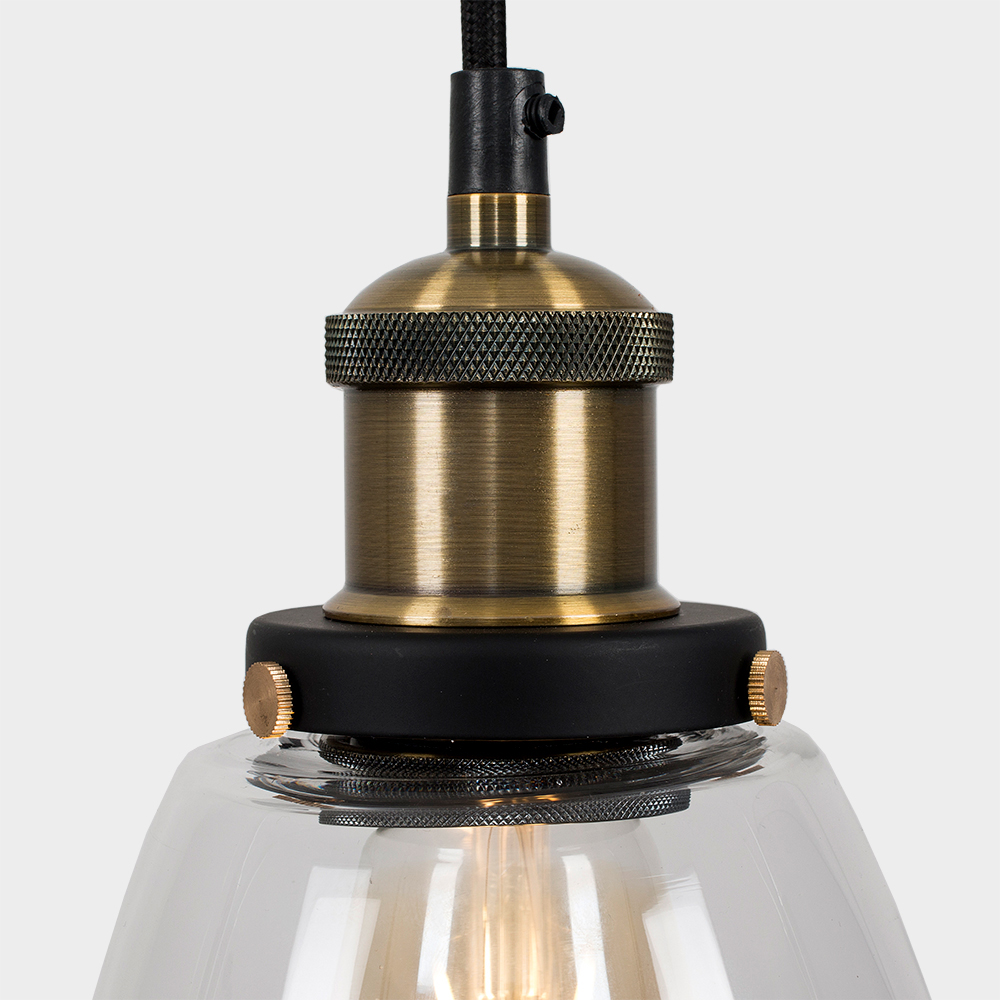 Vintage-Industrial-Steam-Punk-Style-Ceiling-Light-Fittings-Glass-Pendant-Shade thumbnail 20