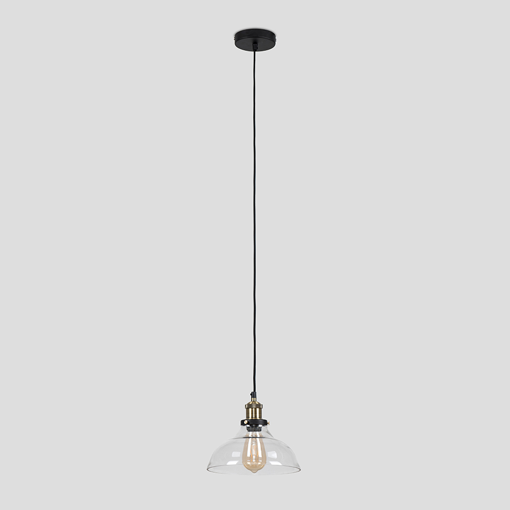 Vintage-Industrial-Steam-Punk-Style-Ceiling-Light-Fittings-Glass-Pendant-Shade thumbnail 33