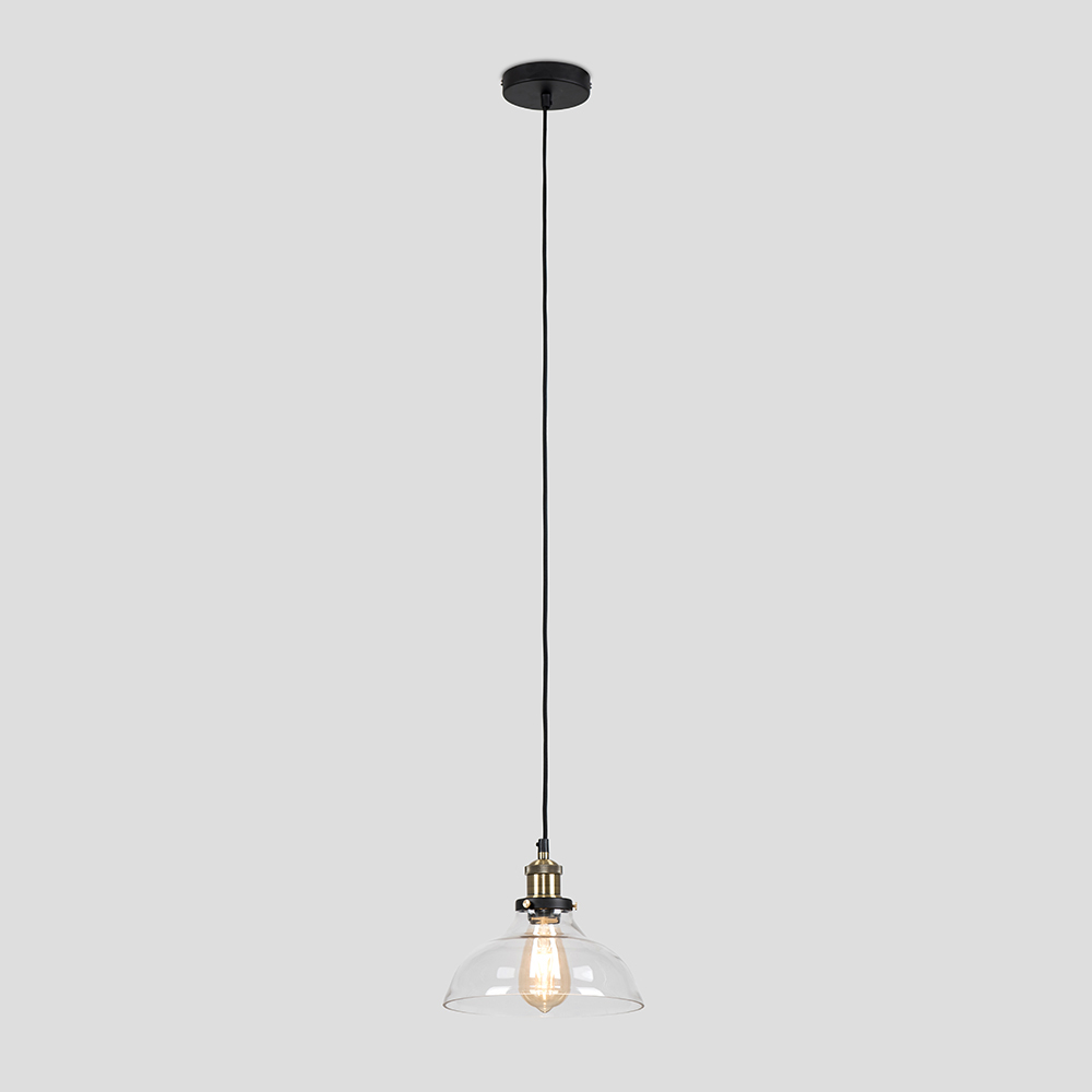 Vintage-Industrial-Steam-Punk-Style-Ceiling-Light-Fittings-Glass-Pendant-Shade thumbnail 34