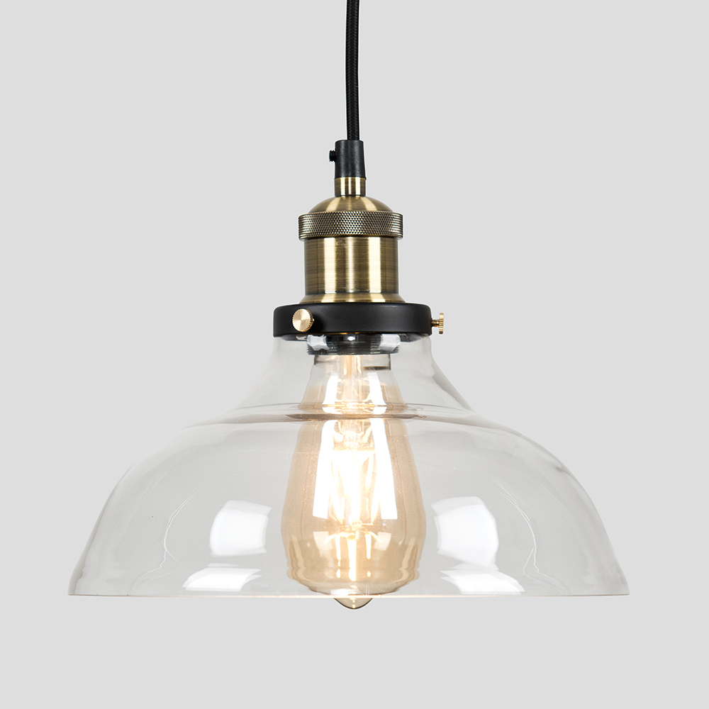 Vintage-Industrial-Steam-Punk-Style-Ceiling-Light-Fittings-Glass-Pendant-Shade thumbnail 35