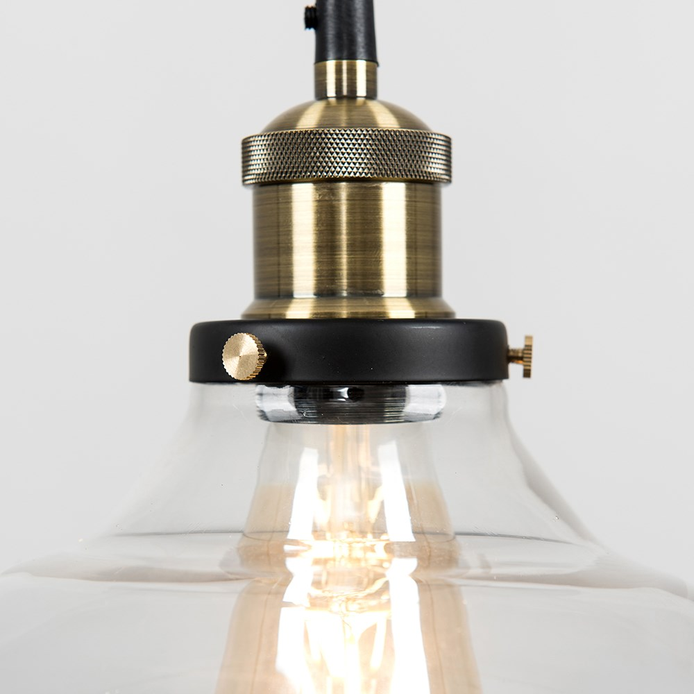 Vintage-Industrial-Steam-Punk-Style-Ceiling-Light-Fittings-Glass-Pendant-Shade thumbnail 36