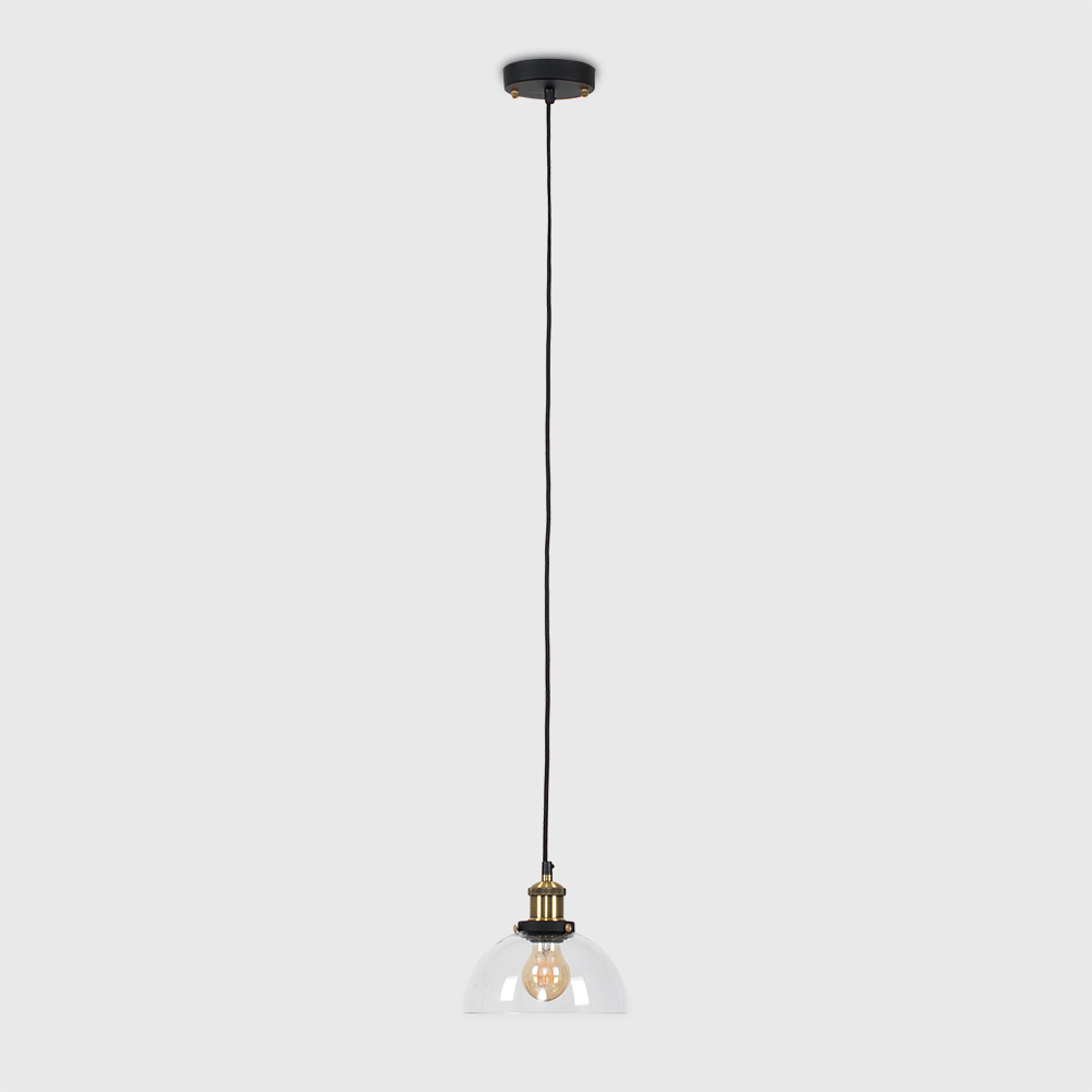 Vintage-Industrial-Steam-Punk-Style-Ceiling-Light-Fittings-Glass-Pendant-Shade thumbnail 3