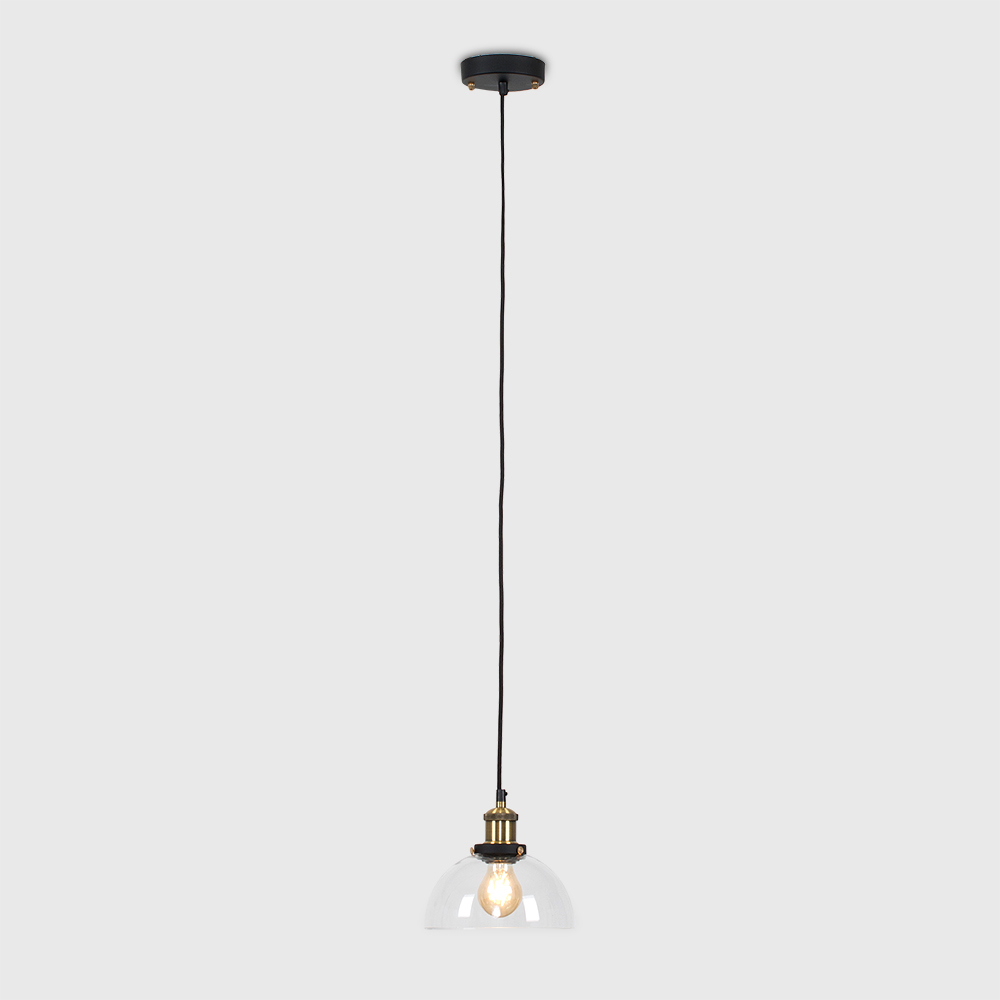 Vintage-Industrial-Steam-Punk-Style-Ceiling-Light-Fittings-Glass-Pendant-Shade thumbnail 4
