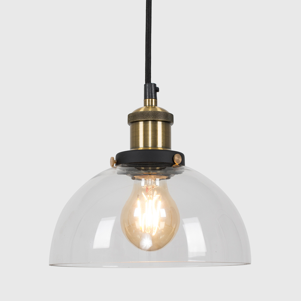 Vintage-Industrial-Steam-Punk-Style-Ceiling-Light-Fittings-Glass-Pendant-Shade thumbnail 5