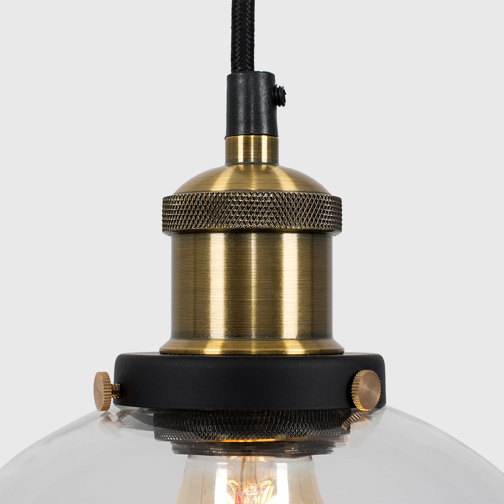 Vintage-Industrial-Steam-Punk-Style-Ceiling-Light-Fittings-Glass-Pendant-Shade thumbnail 6