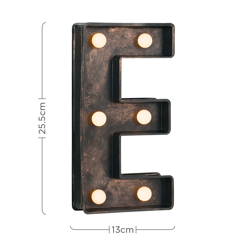 Vintage-Style-Bronze-A-Z-Light-Up-Marquee-Letters-Carnival-Personalised thumbnail 28