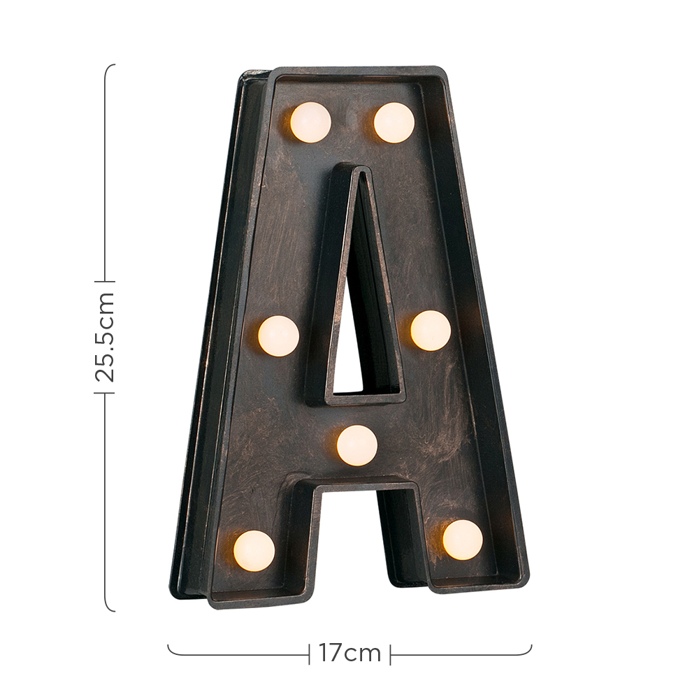 Vintage-Style-Bronze-A-Z-Light-Up-Marquee-Letters-Carnival-Personalised thumbnail 16