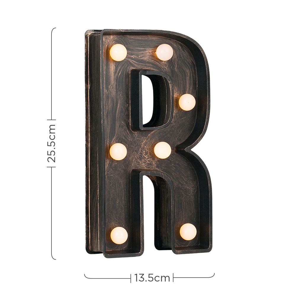 Vintage-Style-Bronze-A-Z-Light-Up-Marquee-Letters-Carnival-Personalised thumbnail 67