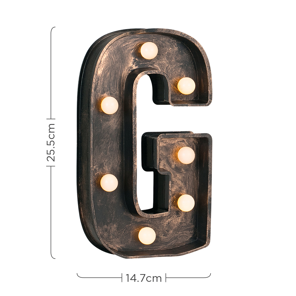 Vintage-Style-Bronze-A-Z-Light-Up-Marquee-Letters-Carnival-Personalised thumbnail 34
