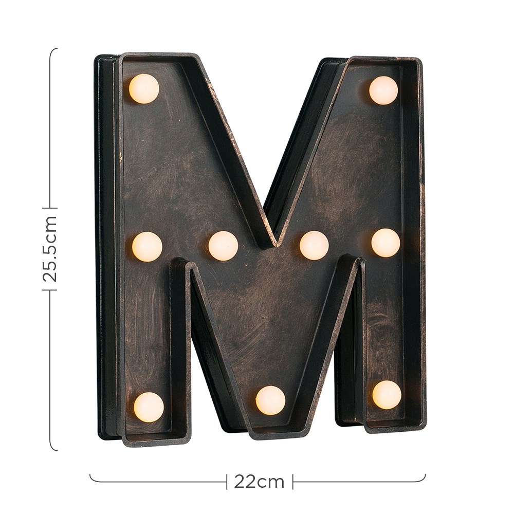 Vintage-Style-Bronze-A-Z-Light-Up-Marquee-Letters-Carnival-Personalised thumbnail 52