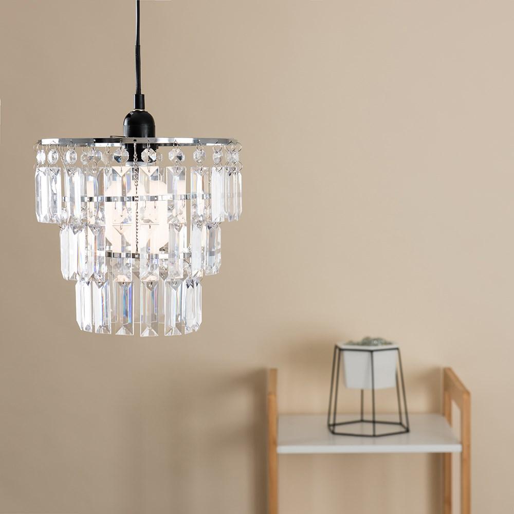 Modern-3-Tier-Ceiling-Pendant-Acrylic-Crystal-Light-Lamp-Shade-Chandelier-Shade thumbnail 12