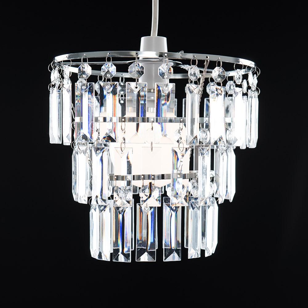 Modern-3-Tier-Ceiling-Pendant-Acrylic-Crystal-Light-Lamp-Shade-Chandelier-Shade thumbnail 11