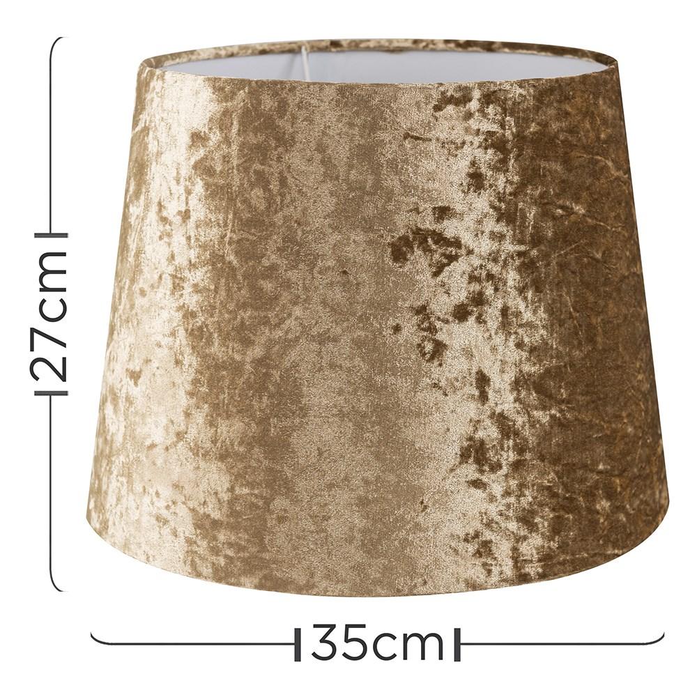 Grande-Facil-Ajuste-Conico-Lampara-de-Techo-Colgante-De-Terciopelo-Mesa-Pantalla-De-Piso miniatura 13