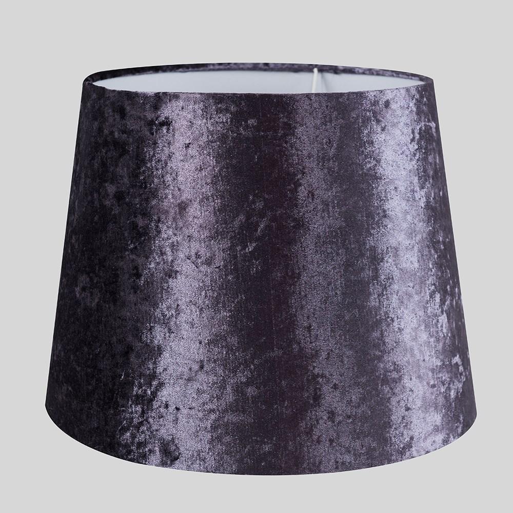 Grande-Facil-Ajuste-Conico-Lampara-de-Techo-Colgante-De-Terciopelo-Mesa-Pantalla-De-Piso miniatura 3