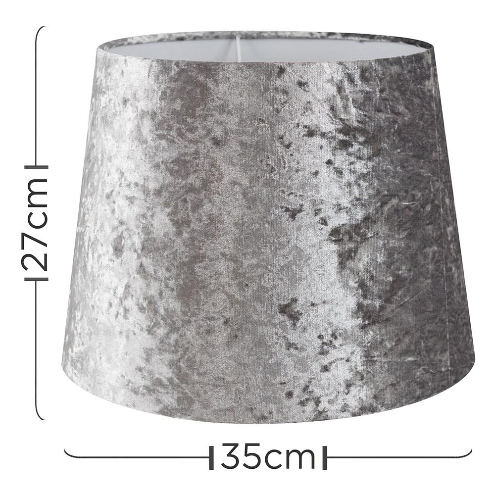 Grande-Facil-Ajuste-Conico-Lampara-de-Techo-Colgante-De-Terciopelo-Mesa-Pantalla-De-Piso miniatura 25