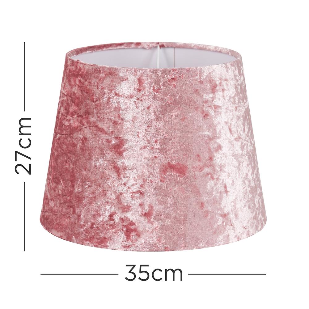 Grande-Facil-Ajuste-Conico-Lampara-de-Techo-Colgante-De-Terciopelo-Mesa-Pantalla-De-Piso miniatura 17