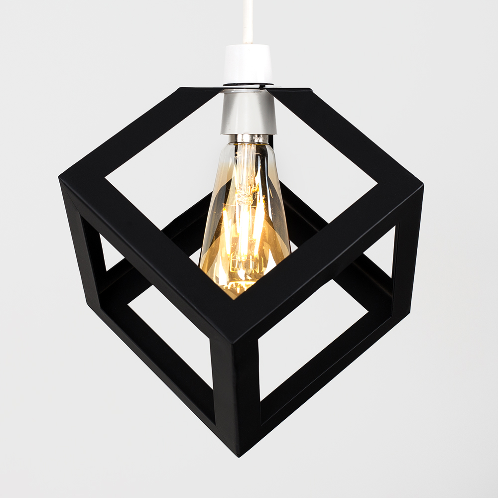 MiniSun Ceiling Shade Industrial Cube Lampshade Steam Punk ...