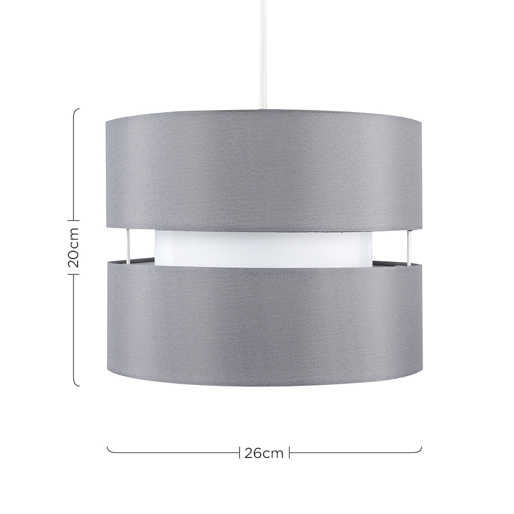 Modern-Easy-Fit-Cotton-Drum-Ceiling-Pendant-Lampshades-Modern-Light-Lighting thumbnail 29