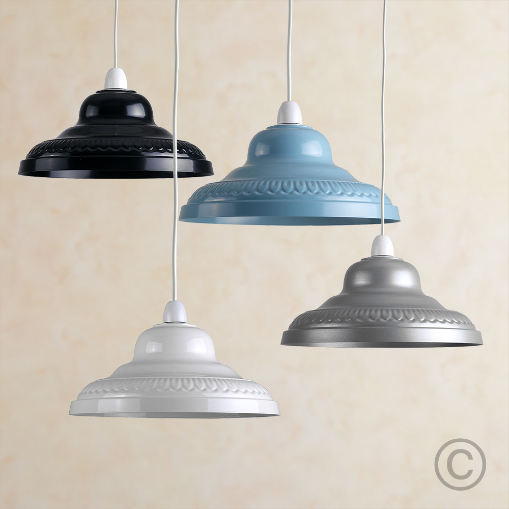 Retro-Metal-Ceiling-Pendant-Light-Shade-Easy-Fit-Lampshade-Lounge-Lighting-Home thumbnail 9