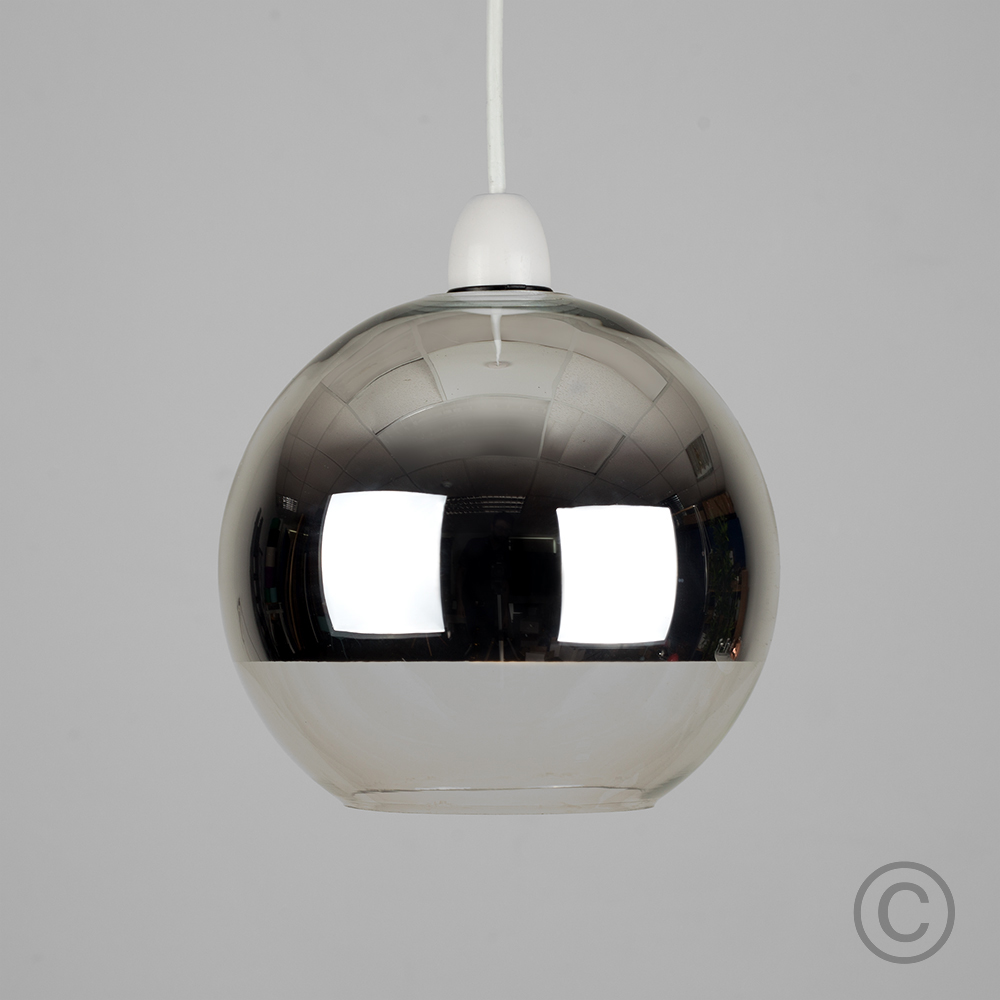 Modern-Metallic-Copper-Chrome-Glass-Globe-Ceiling-Pendant-Light-Lamp-Shades thumbnail 3