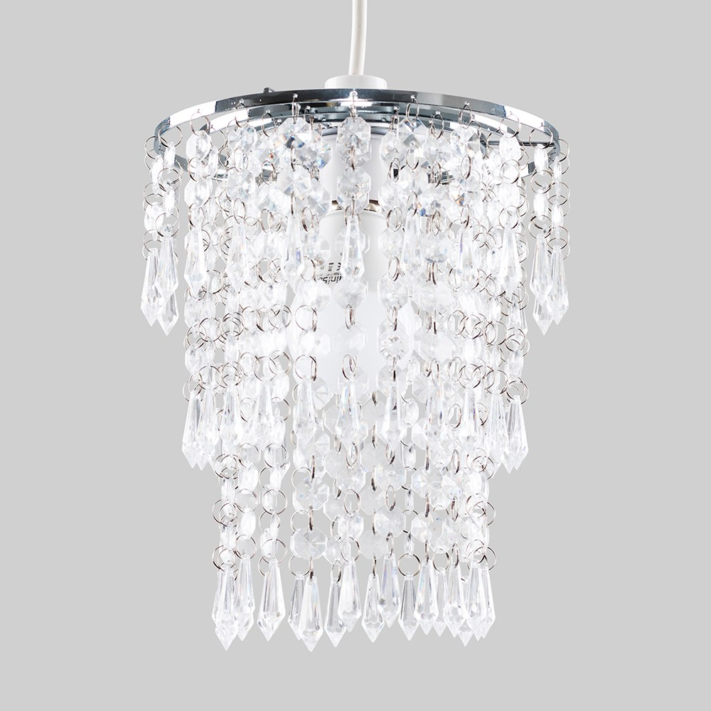 Modern-Chandelier-Easy-Fit-Ceiling-Pendant-Light-Shade-Acrylic-Glass-Shades thumbnail 25