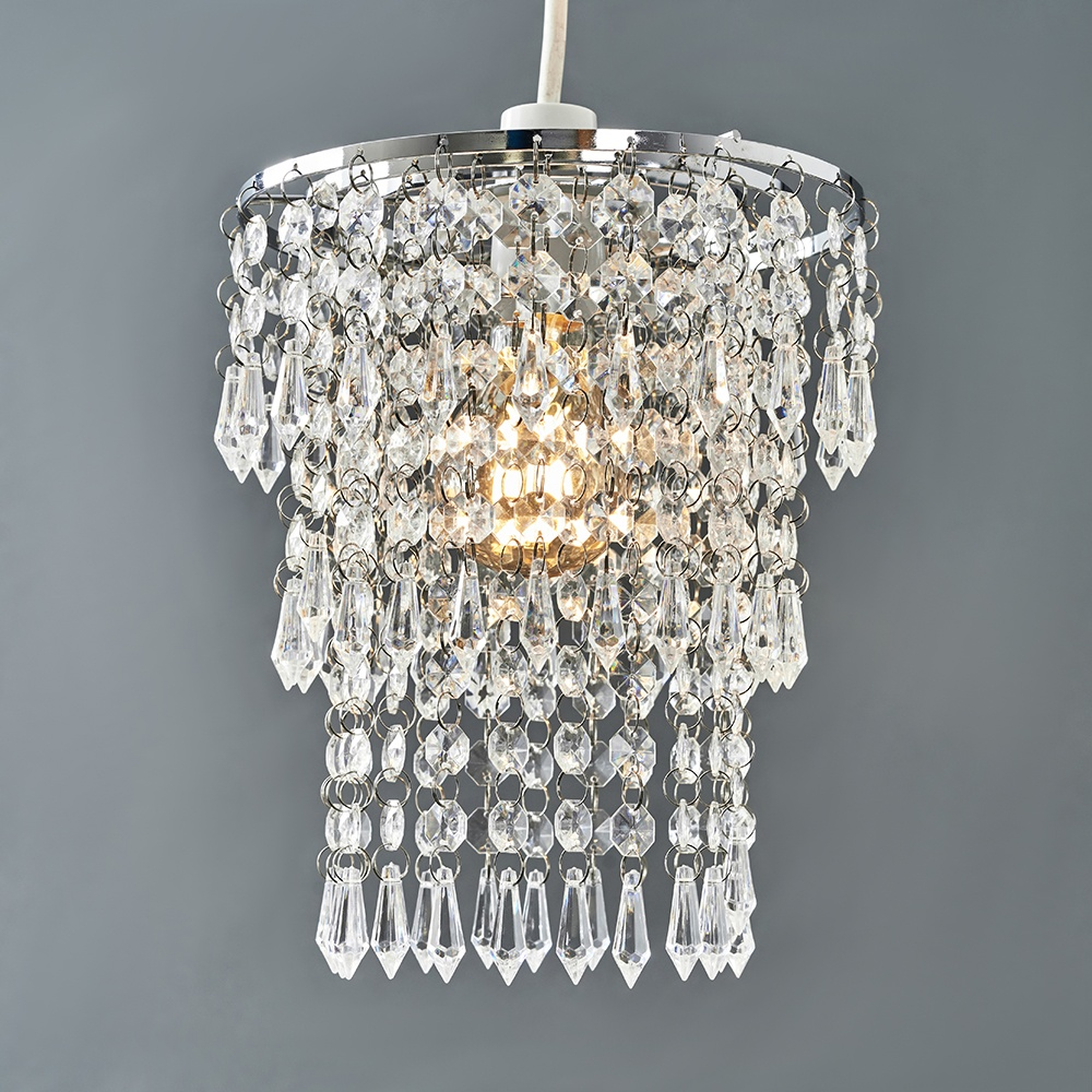 Modern-Chandelier-Easy-Fit-Ceiling-Pendant-Light-Shade-Acrylic-Glass-Shades thumbnail 26