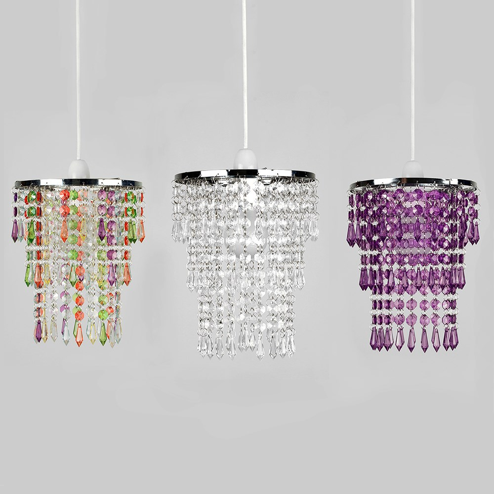 Modern-Chandelier-Easy-Fit-Ceiling-Pendant-Light-Shade-Acrylic-Glass-Shades thumbnail 31