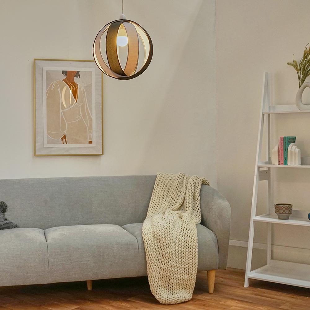 Minisun-Globe-DEL-plafond-lumiere-pendentif-nuances-Abat-jour-eclairage-Ampoule-DEL miniature 10
