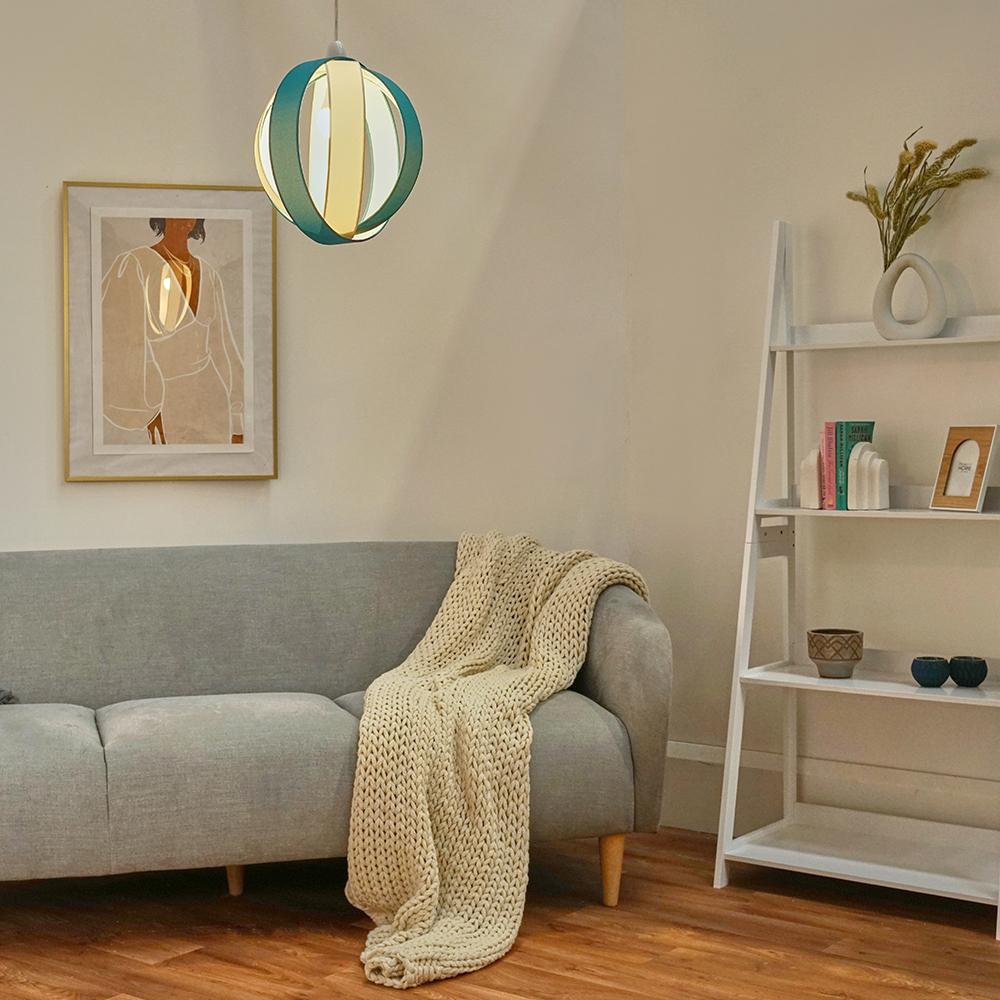 Minisun-Globe-DEL-plafond-lumiere-pendentif-nuances-Abat-jour-eclairage-Ampoule-DEL miniature 53