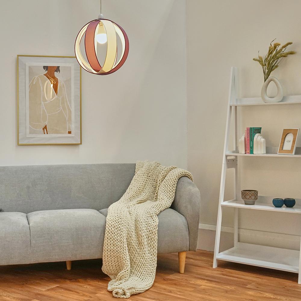 Minisun-Globe-DEL-plafond-lumiere-pendentif-nuances-Abat-jour-eclairage-Ampoule-DEL miniature 40