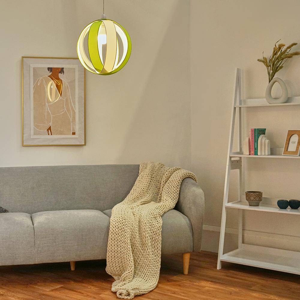 Minisun-Globe-DEL-plafond-lumiere-pendentif-nuances-Abat-jour-eclairage-Ampoule-DEL miniature 34