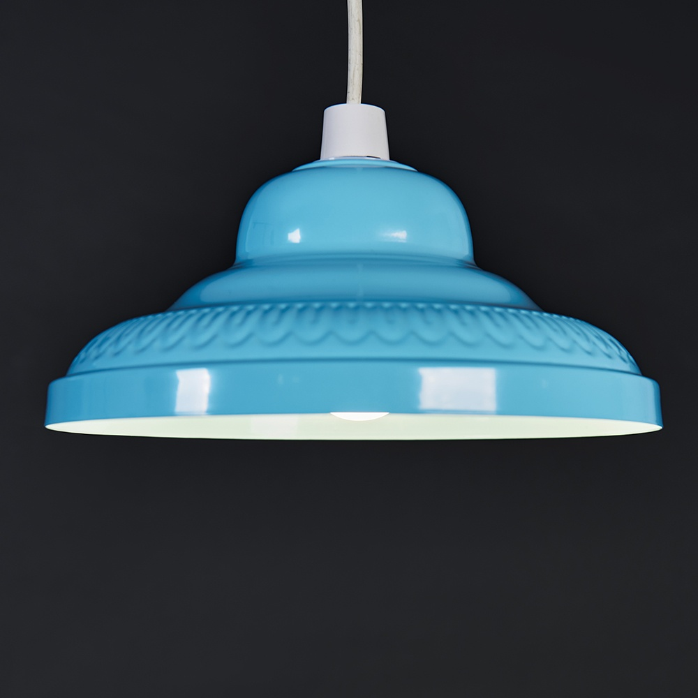 Retro-Metal-Ceiling-Pendant-Light-Shade-Easy-Fit-Lampshade-Lounge-Lighting-Home thumbnail 4
